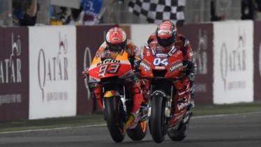 Marc Marquez vs Andrea Dovizioso di MotoGP Qatar