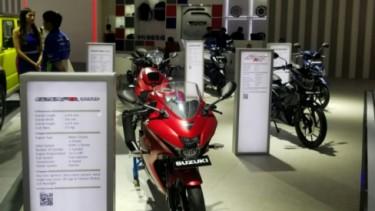 Deretan motor Suzuki di IIMS 2019.