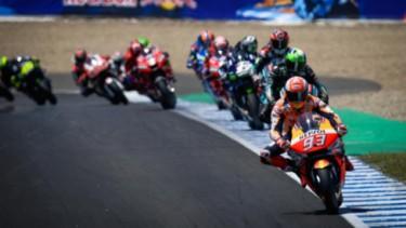 Marc Marquez pimpin balapan MotoGP