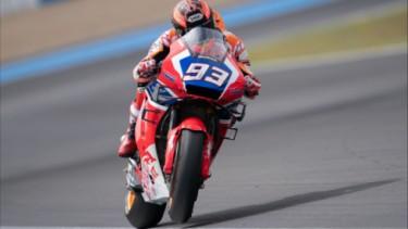 Marc Marquez pakai motor baru di Jerez