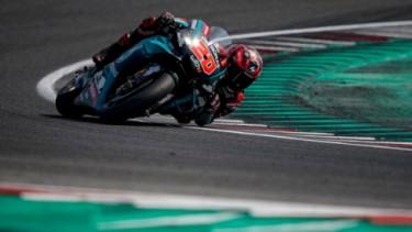 Pembalap Petronas Yamaha, Fabio Quartararo, di MotoGP San Marino