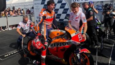 Pembalap Repsol Honda, Marc Marquez, di MotoGP San Marino