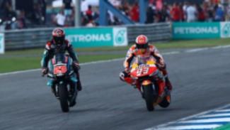 Fabio Quartararo vs Marc Marquez di MotoGP Thailand 2019