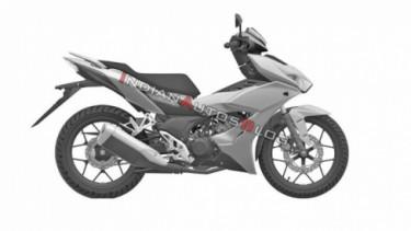 Rendering motor bebek terbaru Honda.
