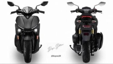 Yamaha Aerox versi terbaru.
