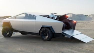 Mobil pikap Tesla Cybertruck.