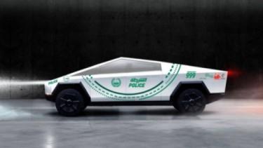 Tesla Cybertruck mobil patroli di Dubai