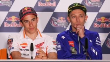 Marc Marquez dan Valentino Rossi