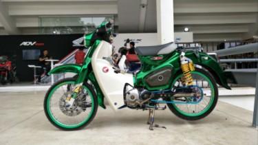 Modifikasi Honda C125 bergaya Thailook