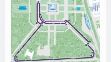 layout Sirkuit Formula E Jakarta