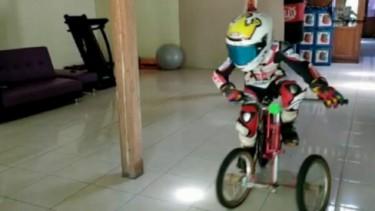 Aksi Pembalap Indonesia Ketika di Rumah Saja