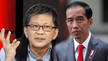Rocky Gerung dan Jokowi