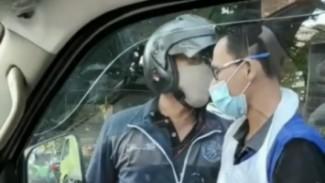 Pemotor cekcok dengan Ambulans