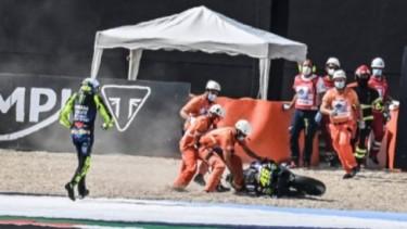 Rossi Jatuh di MotoGP Emilia Romagna