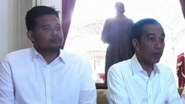 Bobby Nasution bersama mertua Presiden Jokowi