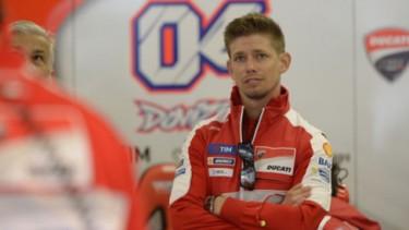 Casey Stoner saat menjadi test rider Ducati