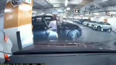 Tangkapan layar parkir viral