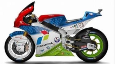 Livery motor Mandalika Racing Team di Moto2