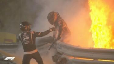 Romain Grosjean kecelakaan