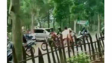 Warga pukuli rombongan motor di Kediri