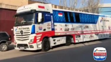 truk Motorhome Pertamina Mandalika SAG Team