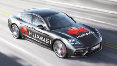 Ilustrasi Mobil Listrik Huawei. Foto: Bloomberg.