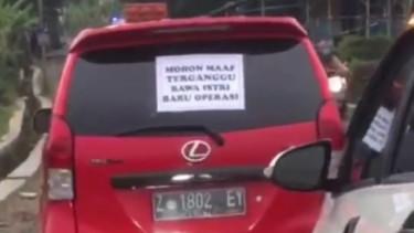 Toyota Avanza viral bawa istri habis dioperasi