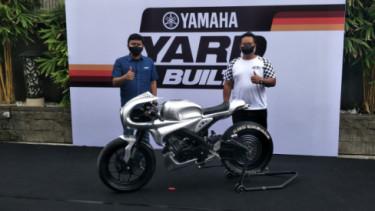 Yamaha XSR 155 buatan AMS Garage bergaya cafe racer