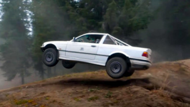 Modifikasi BMW E36 jadi mobil offroad
