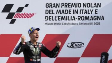 Fabio Quartararo Juara MotoGP 2021. Foto: AP.